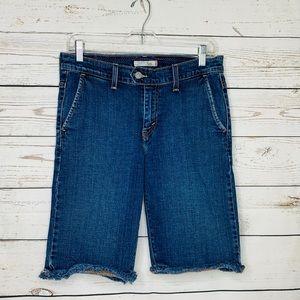 Levi's 515 Bermuda Cut-Off Jean Shorts